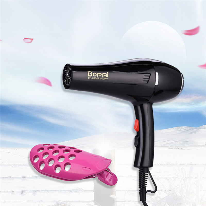 Household 5000W Hair Dryer Blow Hairdryer Hot Cold Wind Collecting Nozzle Styling Tools Curler Fringe Clip Salon Use Hair Blow braun 3in1 multifunctional hair styling tool hairdryer hair curler hair dryer blow dryer comb brush hairbrush professional as720