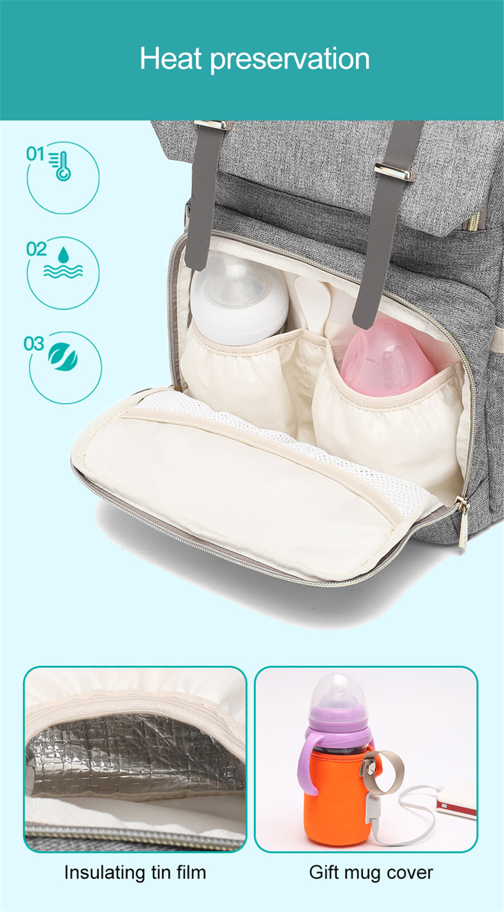 Fashion Large Capacity Baby Nappy Bag Diaper Bag Purse Multifunction USB Mummy Travel Backpack Women Nursing Bags For Mom Daddy