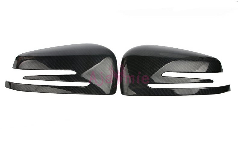 For Mercedes Benz AMG 2010 2015 E Class W212 E200 E260 E320 Carbon Fiber Mirror Overlay Rear View Cover Car Styling Accessories in Chromium Styling from Automobiles Motorcycles