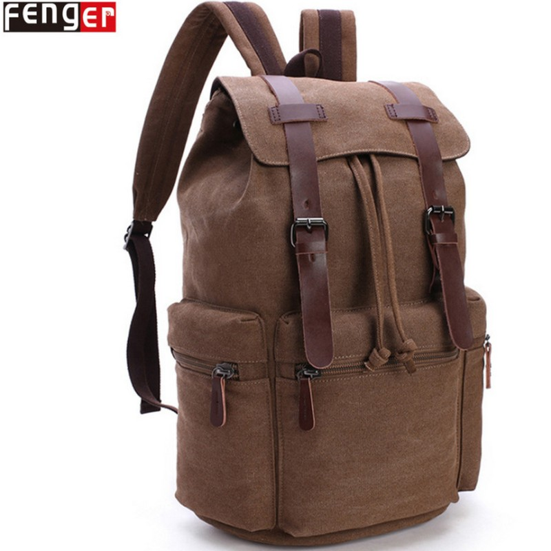 FENGER brand Waterproof mens vintage canvas backpack school bag Feminina Mens Travel Bags large capacity laptop backpacks highFENGER brand Waterproof mens vintage canvas backpack school bag Feminina Mens Travel Bags large capacity laptop backpacks high