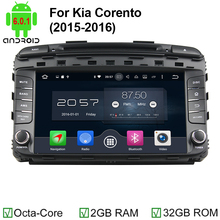 Octa Core Android 6.0 2 Din Car DVD Player for Kia Sorento 2015 2016 GPS Navigation with Radio Head Unit WiFi Bluetooth
