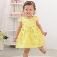 Summer Baby Girls Dress Fashion Thin Cotton Short Sleeve Princess Dress Brand Kids Dresses Children Clothes