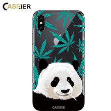 CASEIER Clear Panda Case For iPhone 6 6s Plus TPU Silicone Cover For iPhone X 7 8 6s 6 Plus 5 5s  Ultra Thin Pattern Phone Capa цены