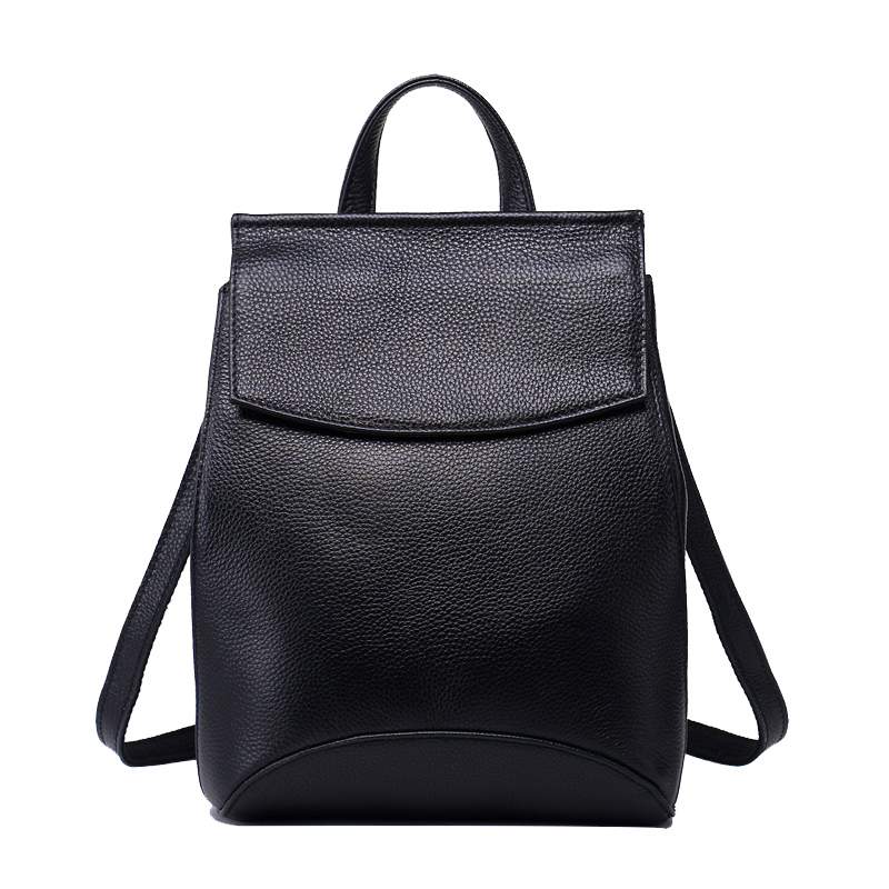 New Women Deluxe Cowhide Genuine Leather Travel Backpack Cover Opening Fashion Simple Shoulder Bag Female Crossbody BagNew Women Deluxe Cowhide Genuine Leather Travel Backpack Cover Opening Fashion Simple Shoulder Bag Female Crossbody Bag