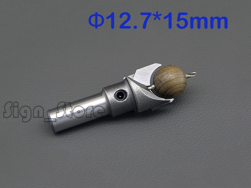 1pc 1/2  SHK 12.7mm wood bead drill bit  2mm hole Bead cutters Beads drill CNC Router Wood Drilling Bead out Diameter 15mm 1 2 5 8 round nose bit for wood slotting milling cutters woodworking router bits
