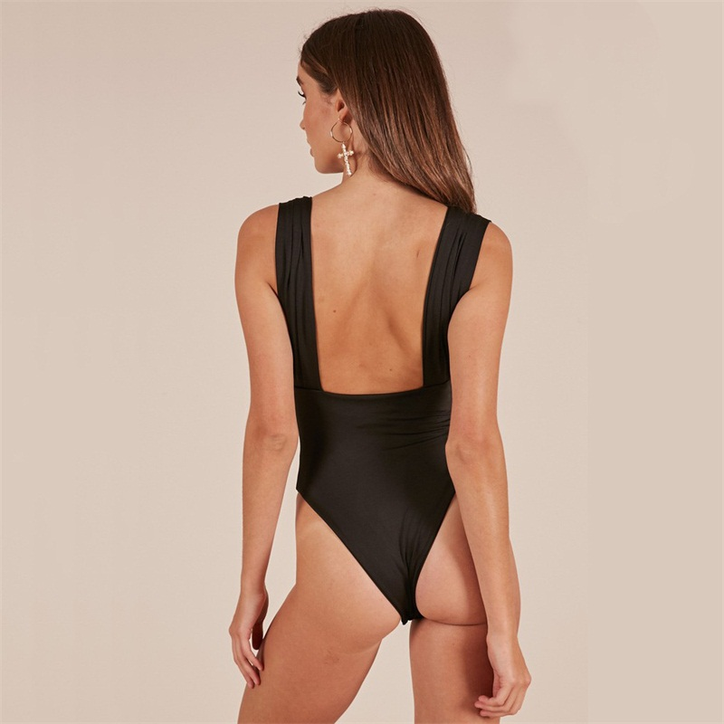 Solid Color Hot Sale New Slash Neck Push Up Fitness Rompers Womens Jumpsuit Off Sholder Across Playsuit Sexy Bodysuit Black Red Women's Clothing