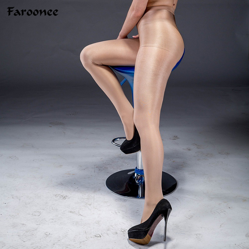 da7a71e85 70D Women S Sexy Oil Shiny T-Crotch Pantyhose Yarns Sexy Tights Hose Dance  Fitness Tights