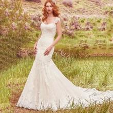 Luxury Robe De Mariee Mariage Mermaid Sweetheart Wedding Dress Detachable Cap Sleeve Lace Appliques Bridal Gowns trouwjurk