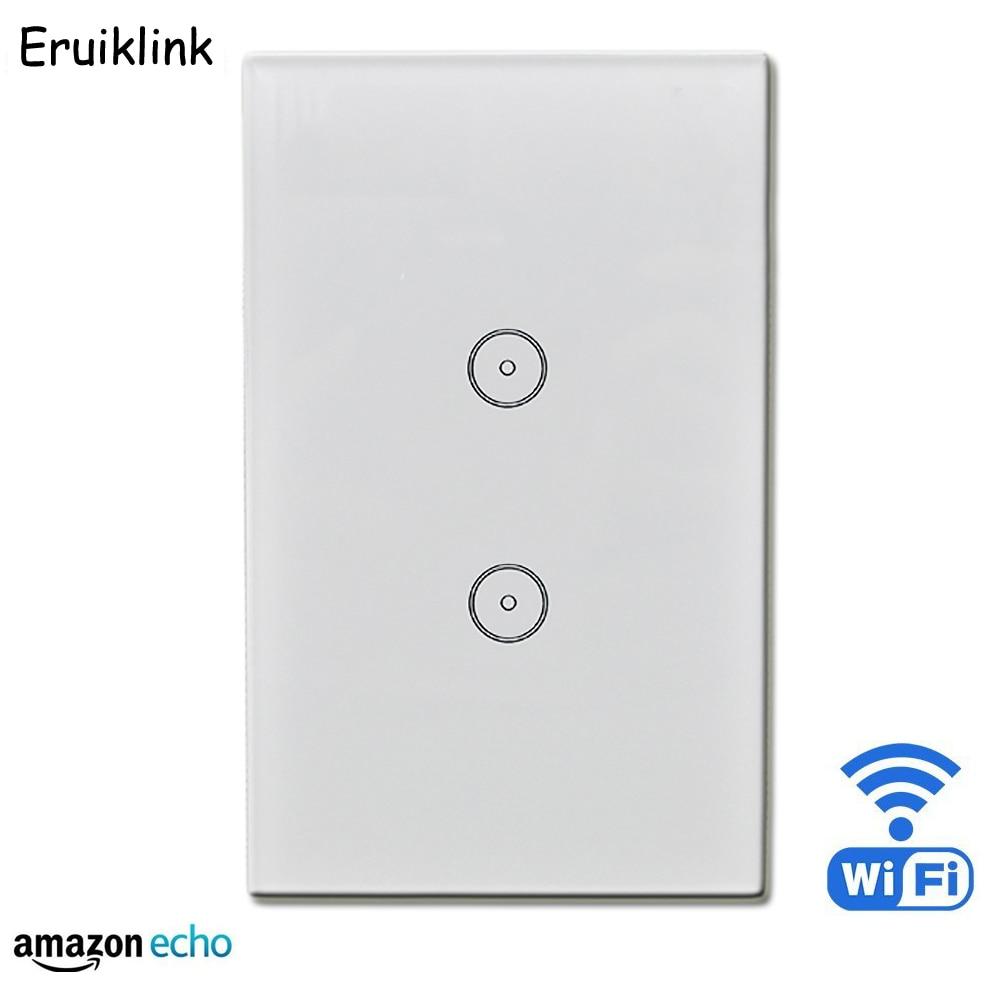 UNS 2 gang WIFI Wand touch schalter smart fernbedienung durch ...