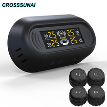 TPMS Systems Tire Pressure Monitoring System with External Four Sensors Tyre pressure Charged By Solar Energy or USB Charging