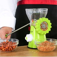 green multifunctional food meat mincer cutter manual stainless meat grinder machine for kitchen vegetable chopper tools