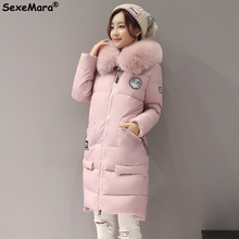 Female Parka Women Jackets 2016 Fur Collar Thick Parkas Hooded XL-Long Winter Coat Womens Big Fur Collar Woman Winter Outwear