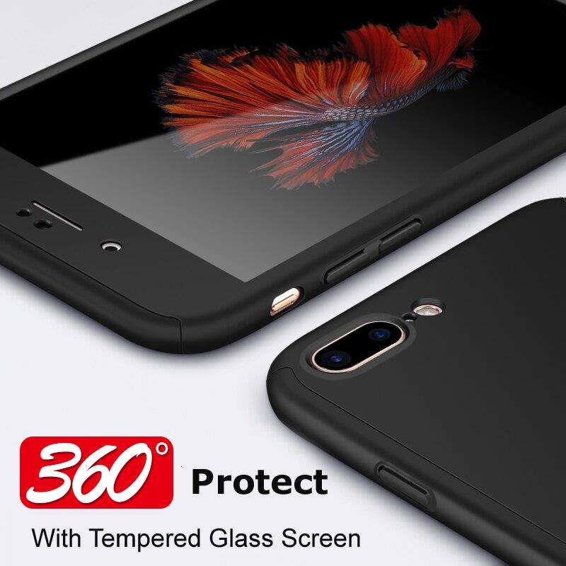 Para iphone 7 PLUS VPOWER Ultra Thin 360 full case + Protector de - Accesorios y repuestos para celulares - foto 3