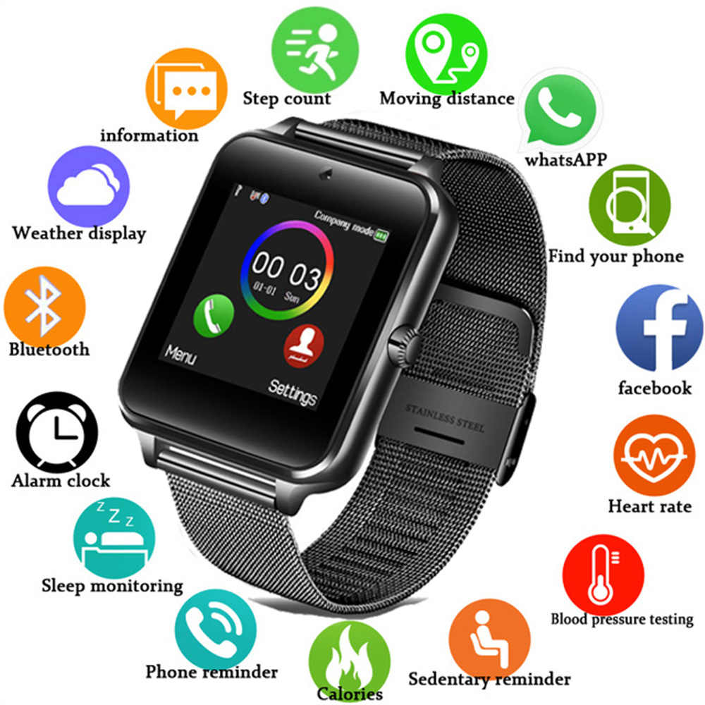 2019 Smart Watch Men support camera SIM TF card Bluetooth connection answering phone multi-function ladies smart watch GT08 Z60