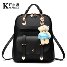 KLY 100% Genuine leather Women backpack 2019 New Backpack spring and summer new students large size Korean women bag