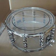 14*6,5 прозрачный акриловый барабан с обручем 2 мм