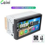 Car Android 8.1 car Stereo Radio GPS navigation Bluetooth wifi Universal 2din auto Stereo Radio Quad Core Audio Multimedia play