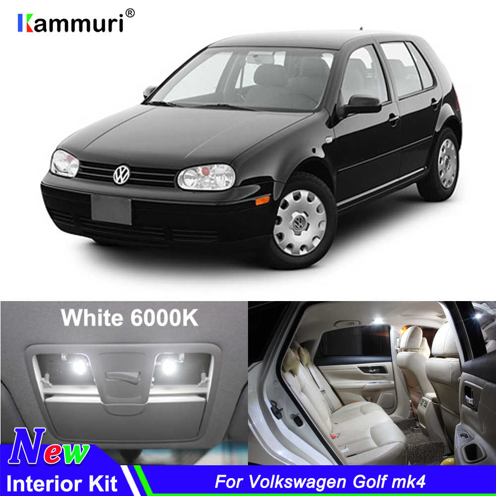 11X free shipping Error Free Car LED Interior Light Kit Package for Volkswagen VW Golf 4 mk4 accessories reading Indoor lights