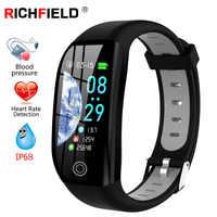 "F21 Smart Bracelet GPS Fitness Activity Tracker 1.14"" Sport Waterproof Blood Pressure Watch Sleep Monitor Smart Band Wristband"