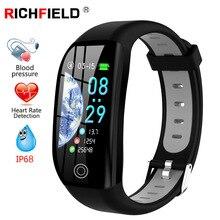 F21 Smart Bracelet GPS Fitness Activity Tracker 1.14 Sport Waterproof Blood Pressure Watch Sleep Monitor Band Wristband