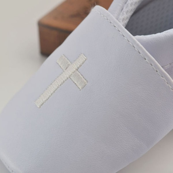 Baby Boy Girl First Walkers Cross Baptism Christening Shoes Church Soft Sole Leather Shoes