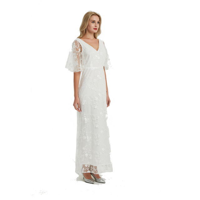 2019 New Women long Dress Sexy Deep V Neck Casual Party Dress Backless Sleeveless White Dresses Vacation Wear 3