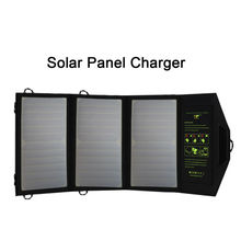 Foldable Portable Solar Panel Charger External Solar Power Charger Charge for USB Ports Digital Devices for Outdoor Activities.