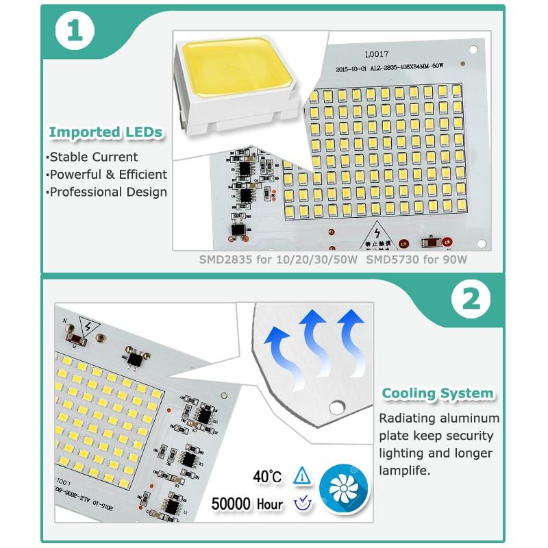 Smart IC SMD жарықдиодты шамдары 10W 20W 30W 50W - Жарықтандыру керек-жарақтары - фото 2