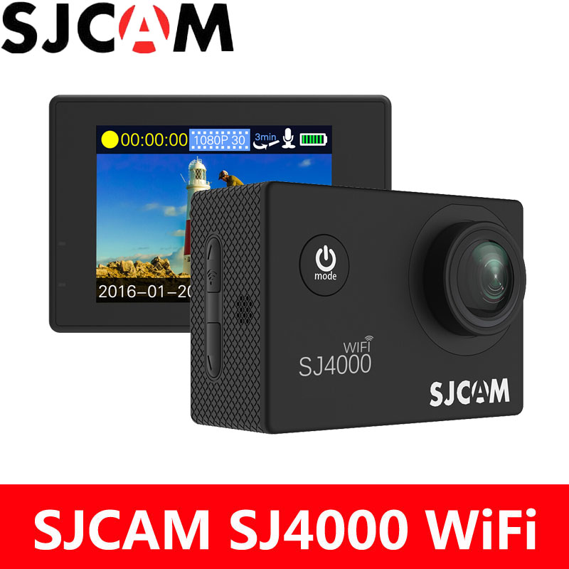 SJCAM SJ4000 WiFi Action Camera 1080P 2.0 inch Screen HD Diving 30M Waterproof mini Camcorder Original SJ 4000 Cam Sports DV cheap sjcam sj4000 2 0 wifi action camera sports dv diving 30m waterproof 2 0 inch lcd screen full hd 1080p original sj 4000 cam
