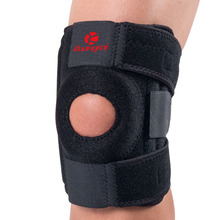 Kuangmi Knee Support Sports 1pc Adjustable Bandage Knee Pads Hiking Cycling Running Breathable Knee Brace Patellar Protection цена 2017