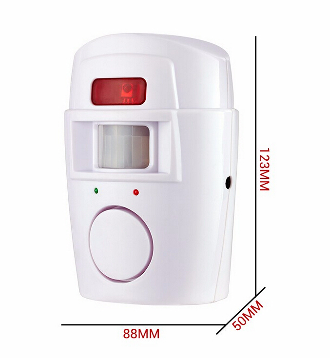 Security Alarm System Wireless Detector remote controllers PIR Infrared Motion Sensor alarm ( (4)