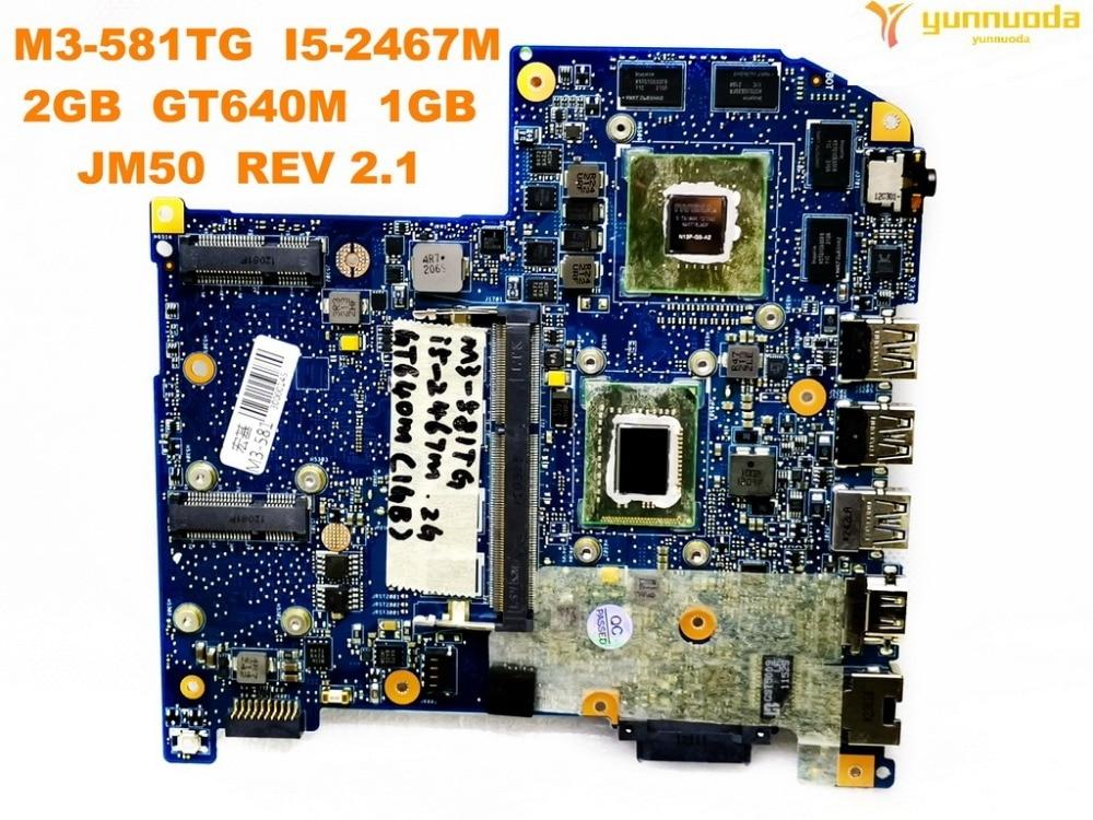 Original for ACER M3 581TG laptop motherboard M3 581TG I5 2467M 2GB GT640M 1GB JM50 MAIN