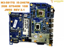 Оригинальный Для ACER M3-581TG материнская плата для ноутбука M3-581TG I5-2467M 2 Гб GT640M 1 ГБ JM50 основной плате REV 2,1 тестирование Хорошо Бесплатная доставка