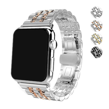 316L stainless steel strap for apple watch band 44mm 40mm 42mm 38mm iwatch series 4/3/2/1 bracelet metal Butterfly buckle belt все цены