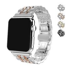 316L stainless steel strap for apple watch band 44mm 40mm 42mm 38mm iwatch series 4/3/2/1 bracelet metal Butterfly buckle belt цена и фото