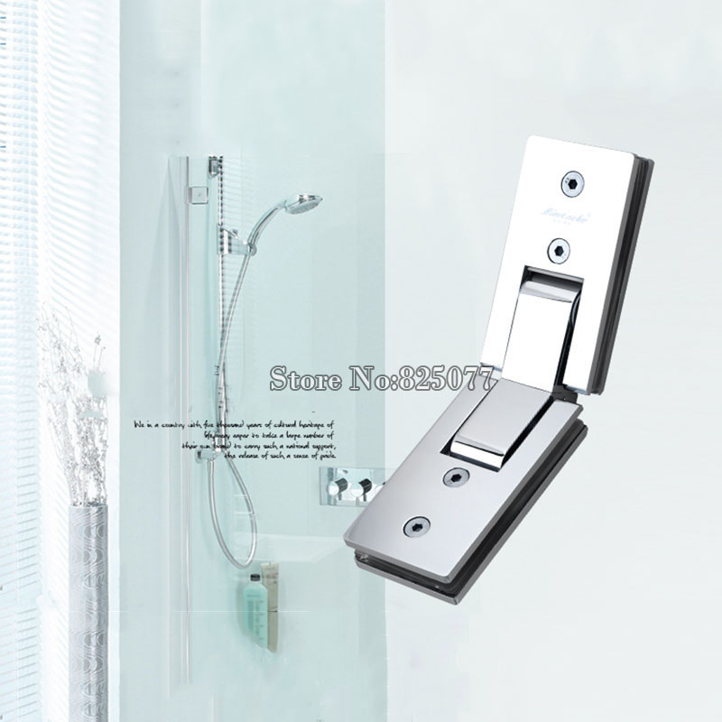 1 stücke Dusche zimmer rechteck 135 grad spiegel glas scharnier quadrat edelstahl bad dusche scharnier clip HM17