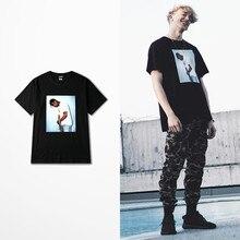 Rap Cantor Kanye Marca Maré Coreano Camisas Engraçadas de T Skatebaord High  Street Hip Hop T-shirt Dos Homens de Justin Bieber T.. 81a4ee040c2