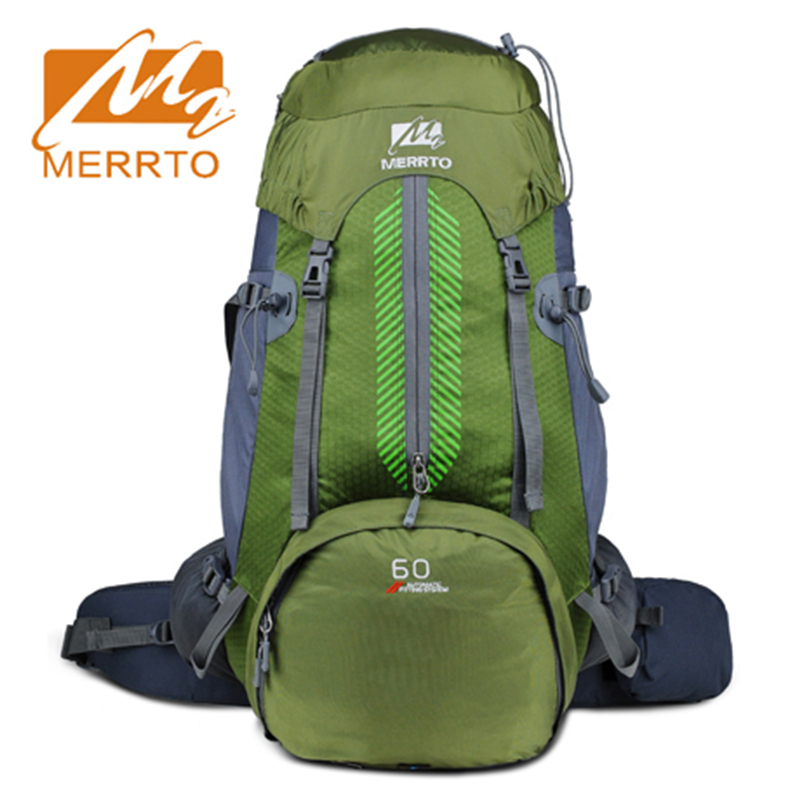 2017 Merrto Waterproof Outdoor Hiking Camping Trekking Backpack Light Weight Mountaineering Travel Bags 50L Free Shipping 19822
