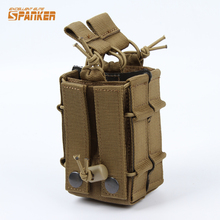 Military Tactical M4 Dual Rifle Magazine Pouch 5.56MM Molle Mag Shotgun Ammo Case Hunting Paintball Gear
