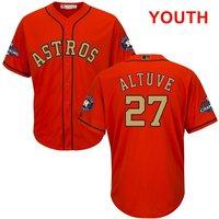 Programa juventud Houston Astros José Altuve Naranja Majestuosa 2018 Oro Bajo Fresco Jersey Jugador