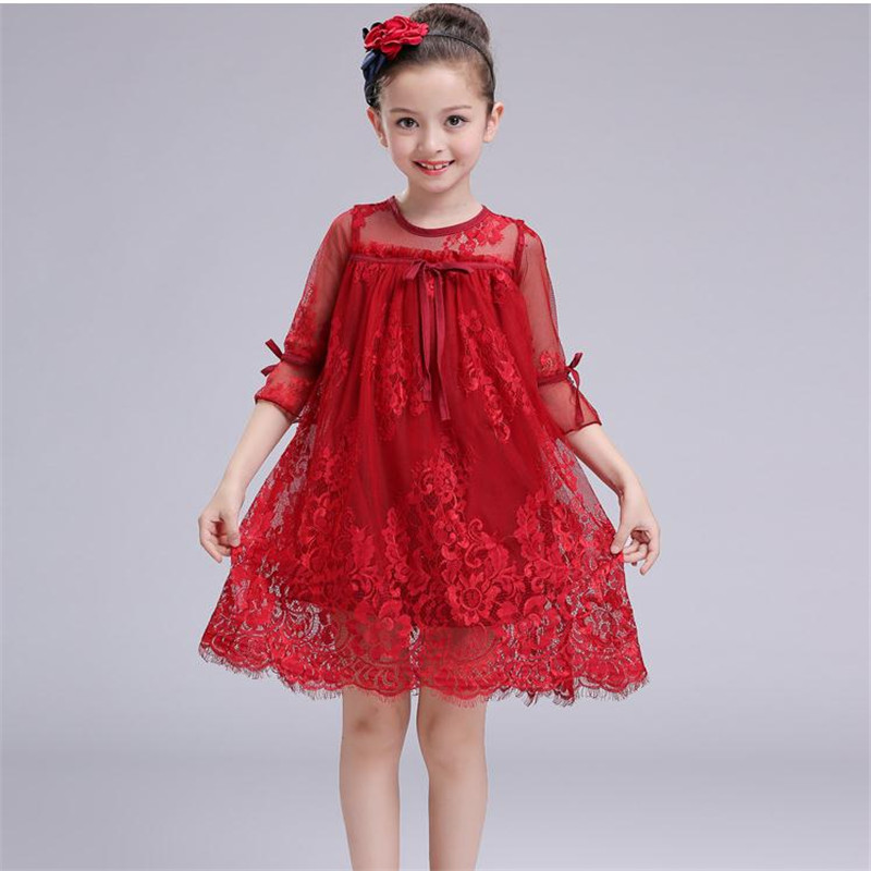 2018 Summer Style Girls Dress Kids Wedding Party Dresses Children Fancy tutu Dress Teenagers Robe Fille Enfant Lace girl clothes baby girls white dresses for wedding and party wear girl princess dress kids lace clothes children costume age 3 4 5 6 7 8 9 10