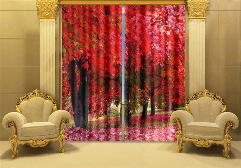 Luxury Blackout 3D Window Curtains For Living Room Office