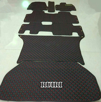 Custom full set car floor mats + trunk mat for Honda STEP WGN 7 8 seats 2015-2009 waterproof durable carpets for Stepwgn 2012