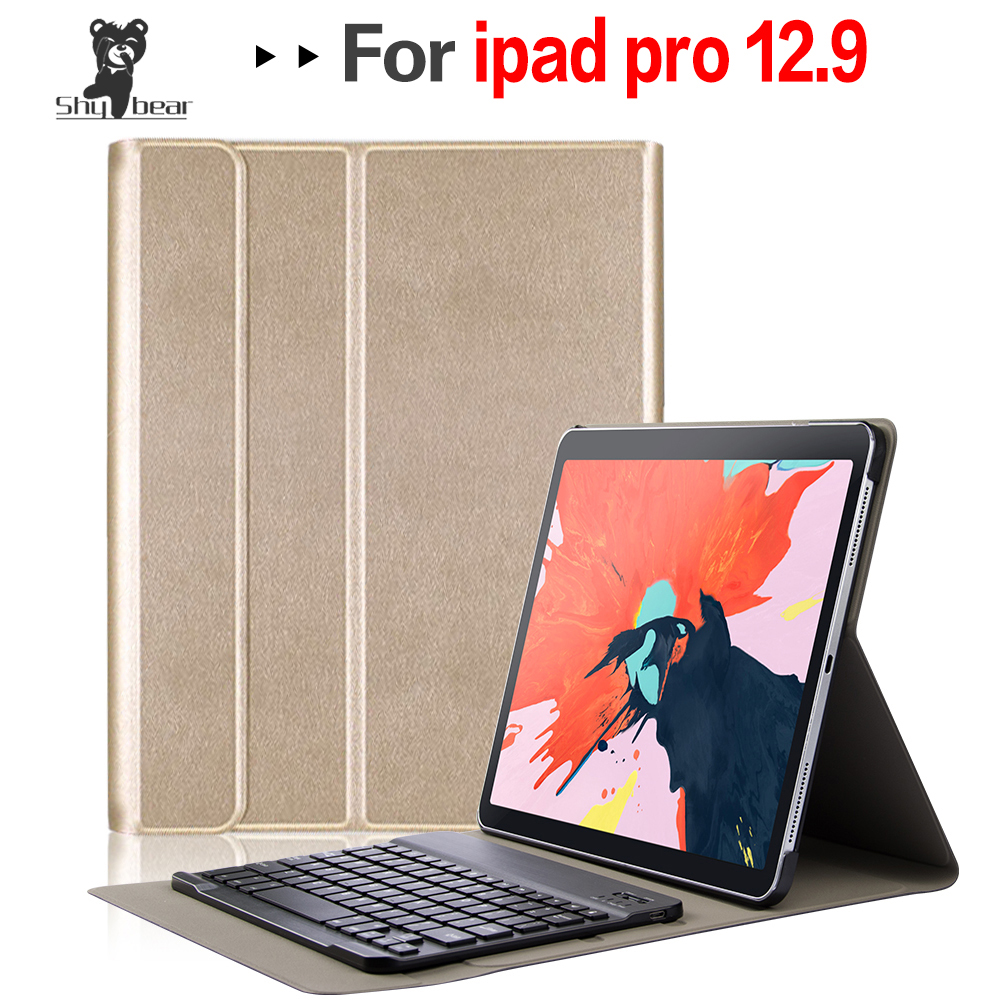 Accessory Cover for New IPad Pro 12.9 Inch Tablet A1983 2018 Quality Case with Removable Detachable Bluetooth Keyboard