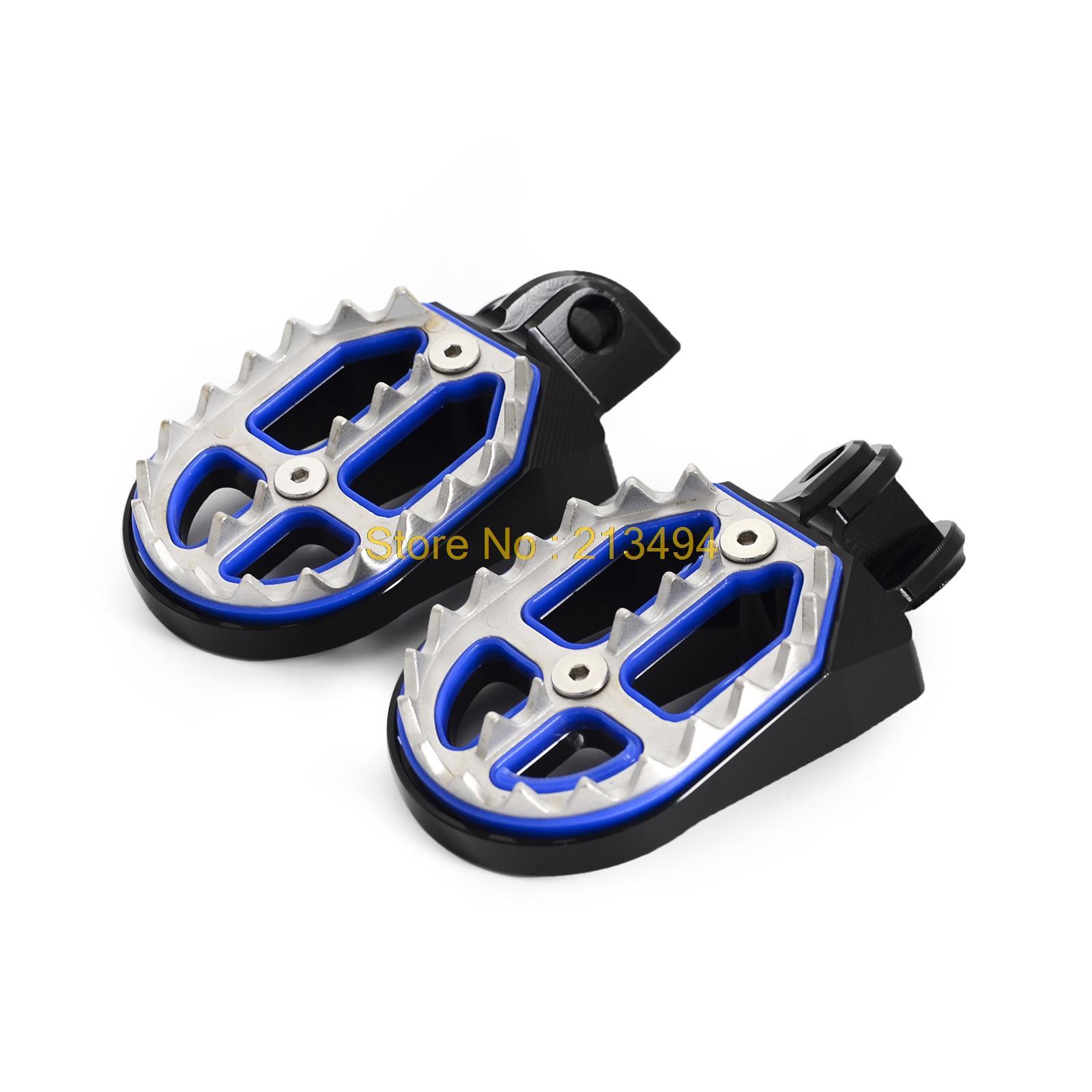 NICECNC Foot Pegs Rests Pedals For Husqvarna TC65 85 TC FC TE FE 125-501 FS450 Husaberg FE TE FC TE 125-610