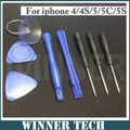 8 em 1 Kit de Reparação de Abertura Ferramentas Pry Chave De Fenda Set Chave De Fenda Para o iphone 6 6 Plus 5 5S 4 4S 4G 3G 3GS Para O iPod Touch
