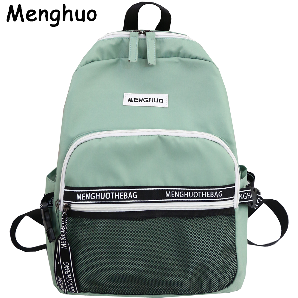 Menghuo School Backpack For Teenage Girl Mochila Feminina Women Backpacks Waterproof Nylon Casual Laptop Bagpack Female Sac A Do