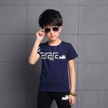 2016 Brand T shirt Children Summer Clothes Kids Boys Printing 100% Cotton Short Sleeve Boy Tee Shirt 3 Colors
