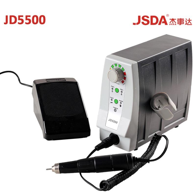 Настоящее JSDA JD5500 85 Вт 35000 об./мин. Электрический Advanced ногтей сверла профессионалов педикюр инструмент маникюр машина ногтей оборудования