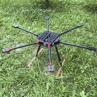 FPV системы ЧПУ Алюминий складной 1100 мм углеродного Волокно Hexacopter Рамки комплект с Шасси Поддержка 18 дюймов пропеллер